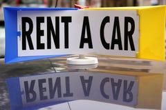 Affitti un'automobile Immagine Stock Libera da Diritti