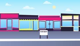 Affitti un deposito nella città illustrazione di stock