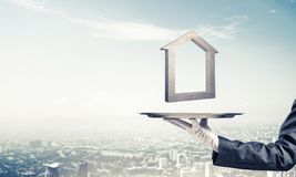 Affitto del bene immobile e concetti di acquisto Immagini Stock