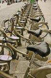 Affitto della bici Immagine Stock