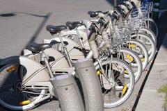 Affitto della bicicletta Immagini Stock