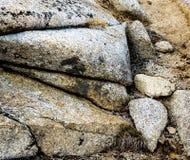 Affleurement érodé de granit photographie stock