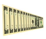 Affluance. Serial numbers on dollar bills draw up words Royalty Free Stock Image