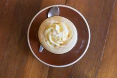 Affogato кофе с ванильным мороженым Стоковое фото RF