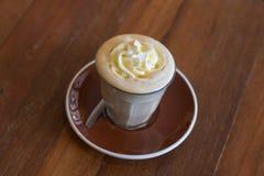 Affogato кофе с ванильным мороженым Стоковая Фотография