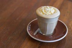 Affogato кофе с ванильным мороженым Стоковое Изображение