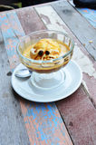 Affogato is Coffee cappuccino with ice cream vanilla Royalty Free Stock Photo