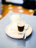 Affogato coffee on table in coffee shop Stock Image