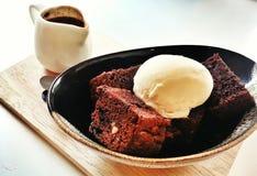 Affogato da brownie Fotos de Stock Royalty Free