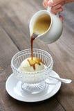 Affogato, italian dessert stock image