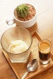 Affogato-Kaffee mit Eiscreme Lizenzfreie Stockbilder