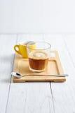 Affogato-Kaffee mit Eiscreme Stockfotos