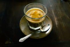 Affogato, Vanilla ice cream with hot coffee, Italian gelato ice Royalty Free Stock Photos
