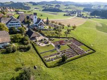 Affoltern im Emmental. The bird& x27;s-eye view of the Affoltern im Emmental of Switzerland Stock Photos