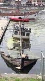 Affondamento della barca fotografia stock