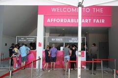Affordable Art Fair 2017 Entrance Royalty Free Stock Photos