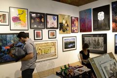 Affordable Art Fair NYC 2014 Royalty Free Stock Photography