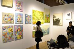 Affordable Art Fair NYC 2014 Stock Image