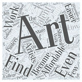 Affordable art 04 word cloud concept  background Stock Photos