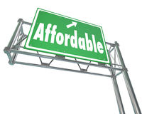 Affordable Best Value Low Price Words Freeway Sign Royalty Free Stock Image