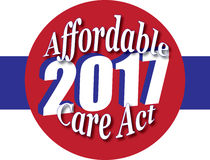 Affordable Care Act 2017 Icon or badge Royalty Free Stock Photo