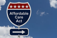 Affordable Care Act Sign Royalty Free Stock Images
