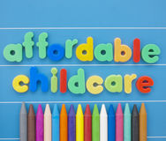 Affordable Childcare. Royalty Free Stock Images