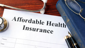 Affordable health insurance form. Royalty Free Stock Photos