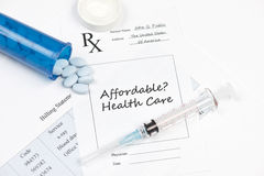 Affordable Healthcare. Prescription and billing statement. Documents created by photographer royalty free stock photos