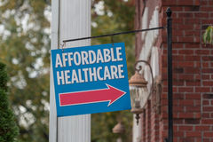 Affordable Healthcare Sign Stock Photography