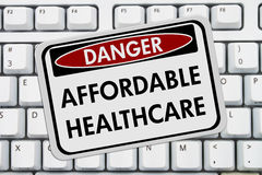 Affordable Healthcare Website Royalty Free Stock Images