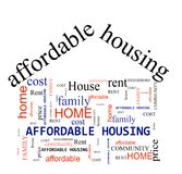 Affordable Housing concept. Affordable Housing word cloud on white background royalty free illustration