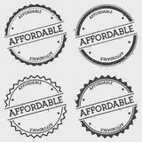 Affordable insignia stamp isolated on white. royalty free illustration