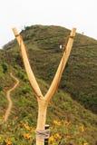 Afforest slingshot. Promote tourism north thailand Stock Photos