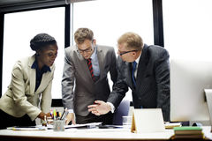 Affär Team Corporate Organization Meeting Concept Royaltyfria Foton