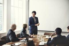 Affär Team Meeting Working Presentation Concept Royaltyfri Fotografi