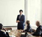 Affär Team Meeting Working Presentation Concept Royaltyfria Foton
