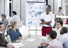 Affär Team Profit Statistical Meeting Concept Royaltyfria Bilder