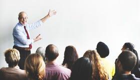 Affär Team Seminar Listening Meeting Concept Arkivfoton