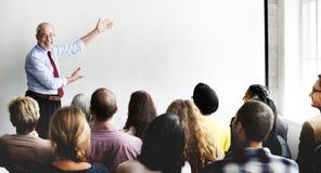 Affär Team Seminar Listening Meeting Concept Royaltyfria Bilder