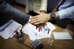 Affär Team Teamwork Partnership Together Concept Royaltyfri Foto