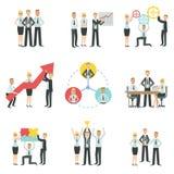 Affär Team Working Together Achievement Process Infographic Royaltyfri Fotografi