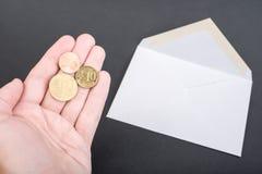 Affranchissement allemand de lettre Images stock