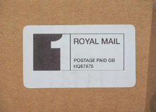 Affranchissement de Royal Mail payé Images stock