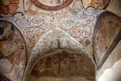 Affreschi contemporanei arcati decorati con le scene del genere Immagini Stock