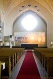 Affreschi dell'altare nella chiesa di Lutheran di Tampere Fotografia Stock Libera da Diritti