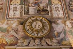 Affreschi nel ` Udienza del dell di Sala nel Palazzo Vecchio, Firenze, Italia immagini stock