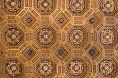 Affreschi nel ` Udienza del dell di Sala nel Palazzo Vecchio, Firenze, Italia immagine stock libera da diritti