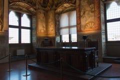 Affreschi nel ` Udienza del dell di Sala nel Palazzo Vecchio, Firenze, Italia immagini stock libere da diritti