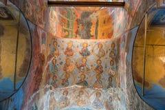 Affreschi sulle volte della cattedrale di presupposto Immagine Stock Libera da Diritti